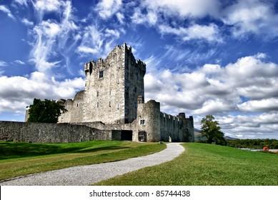 Ross Castle (Irish: Caisleán an Rois) is located on the edge of Lough Leane, in Killarney National Park, County Kerry, Ireland.