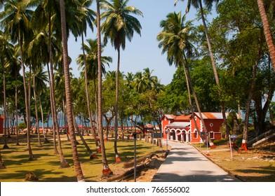 Ross Island, Port Blair,  Andaman And Nicobar, India.
