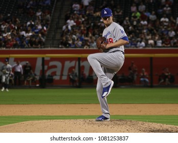 Ross Stripling pitcher for the Los Angles Dodgers at Chase Field in Phoenix,Arizona USA April 30,2018.