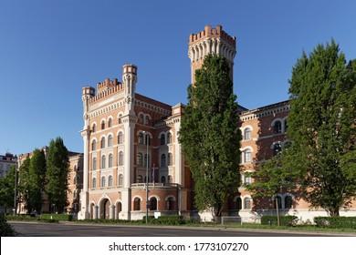 Rossauer Barracks in the style of historicism, Vienna, Austria