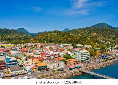 ROSSEAU, DOMINICA - April 7, 2011: The Commonwealth of Dominica, is an Island country in the West Indies which has become a popular cruise ship destination.