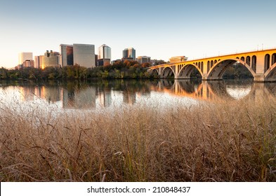 Rosslyn Key Bridge Washington DC Metro Skyline Cityscape
