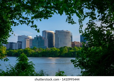 Rosslyn, VA, USA May 24th, 2019: Rosslyn, VA view from Georgetown on the Potomac river