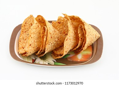Rosted papad, Papad is most side dish in lunch and dinner food in india