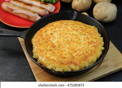 Rosti / rosti is Swiss local cooking.