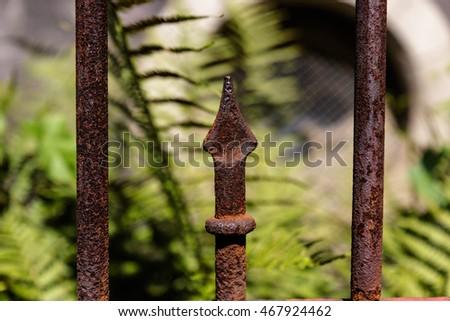 Rostiger Zaun Stock Photo Edit Now 467924462 Shutterstock