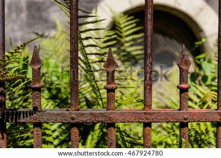 Rostiger Zaun Stock Photo Edit Now 467924780 Shutterstock