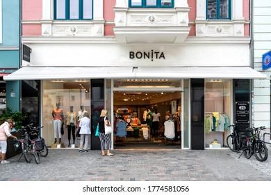 ROSTOCK, GERMANY - JUNE 18, 2020: Bonita branch. Bonita is a German clothing retailer and operates over 800 shops across Europe.