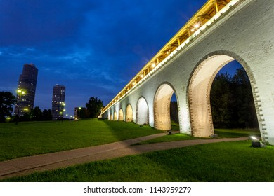 Rostokinsky aqueduct in Moscow