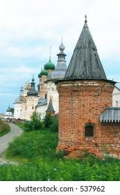 Rostov Kremlin's Monastery Tower Detail [#4526]