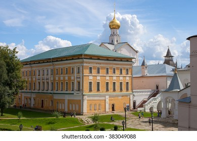 Rostov, RUSSIA – 2015 July 30: Samuilov body and courtyard of the Rostov Kremlin on July 30 in Rostov, Yaroslavl region, Russia. Nearly all the Kremlin buildings date from the 1670s and 1680s.