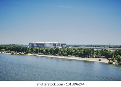 Rostov-on-Don, Russia, 03 July 2017: Building Arena stadium for Fifa World Cup 2018