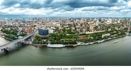 Rostov-on-Don. Russia. aerial view, Panoramas of the city