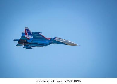 ROSTOV-ON-DON, RUSSIA - AUGUST, 2017: Su-30