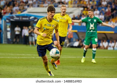 Rostov-on-Don, Russia - AUGUST 25, 2019: Eldor Shomurodov of FC Rostov in action during the Russian Premier League match between FC Rostov and FC Rubin Kazan
