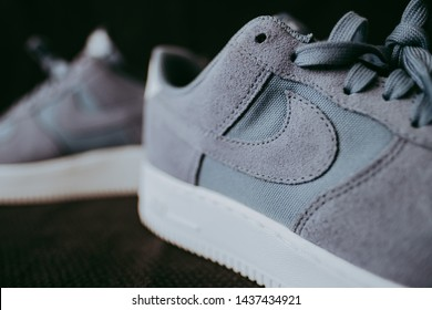 ROSTOV-ON-DON / RUSSIA - June 29 2019: Nike Air Force 1 Low 07. Nike Sneaker Life Style. Nike company. Product shots
