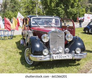 """Rostov-on-Don, Russia - May 21,2017:Auto Mercedes-Benz 230""""Kronprinz"""" in the parking lot"""