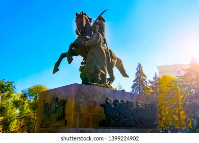 Rostov-on-Don,Russia - October 14,2012: Monument.First of horsemen.sculptor E. Vucetich. Dedicated to the heroes of the Civil War, Rostov liberated from the White Guards in 1920
