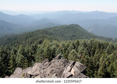 Roswell Ridge and H. J. Andrews Experimental Forest, from Carpenter Mountain fire lookout, H.J. Andrews Experimental Forest, Willamette National Forest, Oregon, USA