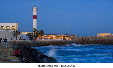 Rota, Cadiz/Sapin; 12 9 2018: Rota Lighthouse Cadiz Spain