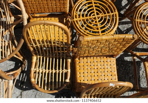 Rotan Chairs Sale Stock Photo Edit Now 1137406652