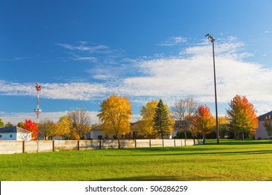 Rotary park during fall season, Saint Cloud, Minnesota