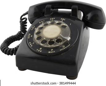 Rotary phone cutout
