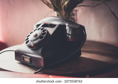 Rotary phone in the house
