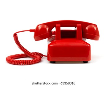 A rotary telephone isolated against a white background