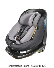 Rotatable gray baby car seat