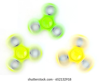 Rotating fidget spinner, a stress relief toy.