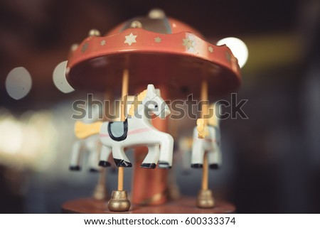 Rotation Horse Carousel Music Box Christmas Birthday Gift
