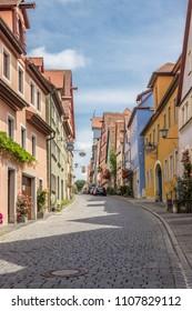 Rothenburg ob der Tauber, Germany - 06.15.2015 Old city street in Rothenburg ob der Tauber, editorial image