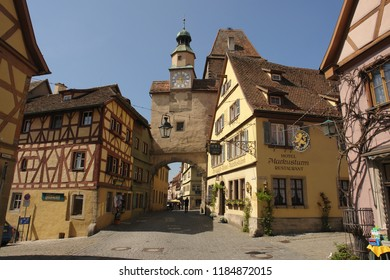 ROTHENBURG OB DER TAUBER / GERMANY - APRIL 8th, 2007: Markus Tower in the town wall of Rothenburg ob der Tauber, Germany
