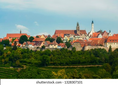 Rothenburg ob der Tauber Germany vineyard cityscape