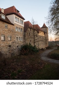 Rothenburg ob der Tauber, Germany - Feb 16th, 2019: Rothenburg ob der Tauber is a German town in northern Bavaria known for its medieval architecture.