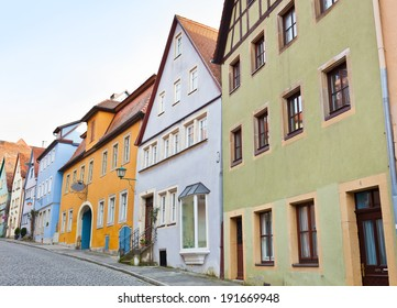 ROTHENBURG OB DER TAUBER, GERMANY - DECEMBER 22, 2013: Timbered house facade, traditional colorful architecture at Rothenburg ob der Tauber, Germany.