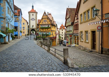 rothenburg ob der tauber germany october の写真素材 今すぐ編集