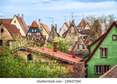 Rothenburg ob der Tauber roofs, Germany