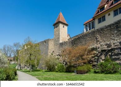 Rothenburg ob der Tauber in the spring