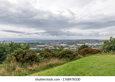 Rotherham, South Yorkshire, England - July 2 2020: The view from Boston Park in Rotherham.