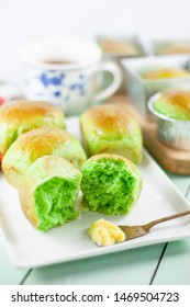 Roti Pandan or Pandan Rolls or Bread, is sweet bread made with pandan juice or extract to produce natural fragrant and green color. An Indonesian common bread variant.
