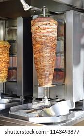 Rotisserie with Greek Pork Gyros Kebab