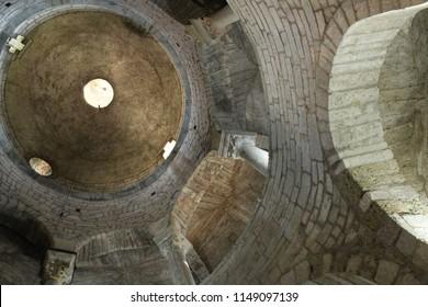 The Rotonda di San Tomè in Bergamo, Italy, medieval church example of Romanesque architecture
