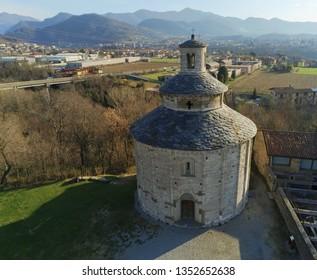 Rotonda di San tome from drone photography