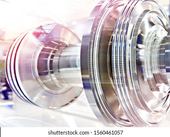 Rotor of gas turbine engine. Exhibition sample