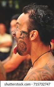 ROTORUA, NEW ZEALAND - FEBRUARY 9, 2011: The Tamaki maori cultural village in New Zealand