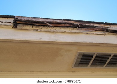 Rotted Wood House Eaves