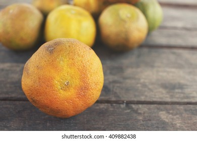 Rotten orange fruit