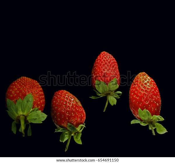Rotten strawberries in flight